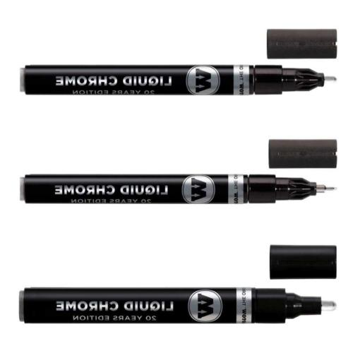 liquid chrome marker set 1mm 2mm