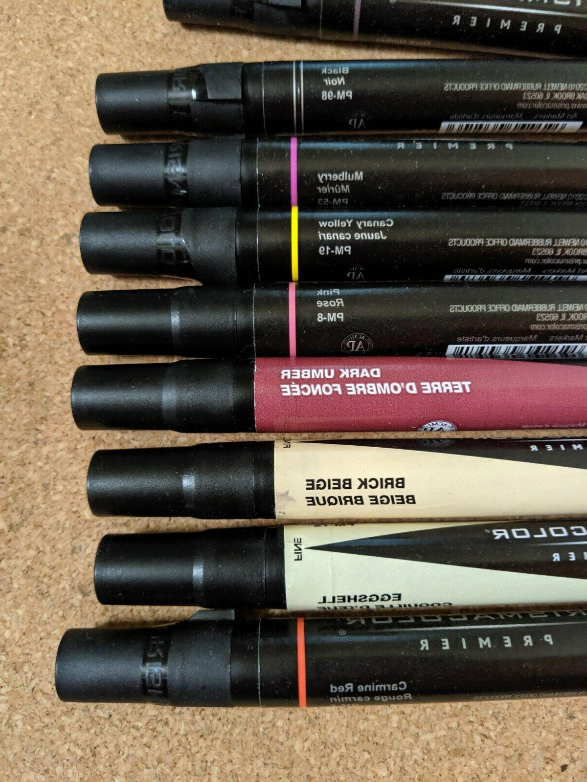Lot Of 23 Prismacolor Markers Broad Fine New