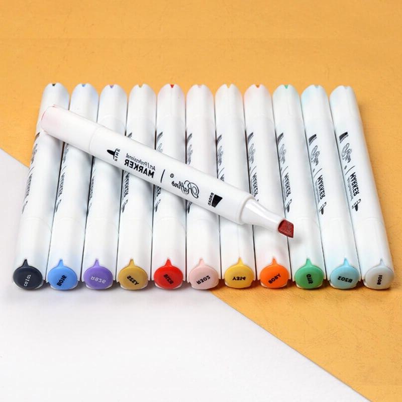 Marco Raffine Alcohol <font><b>Markers</b></font> Headed Sketch Pens