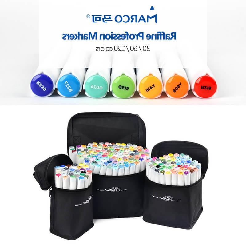 marco raffine 30 60 120 colors alcohol