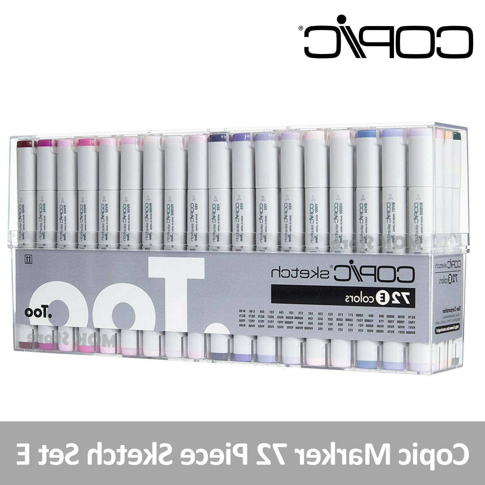 Copic Marker 72 Piece Sketch Set E  - Artist Markers Anime C