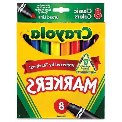 Crayola Classic Markers, Broad Line 8 ea
