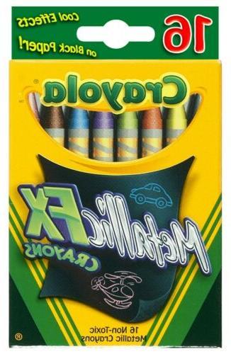 Crayola 52-8816 Metallic FX Crayons 16 Count