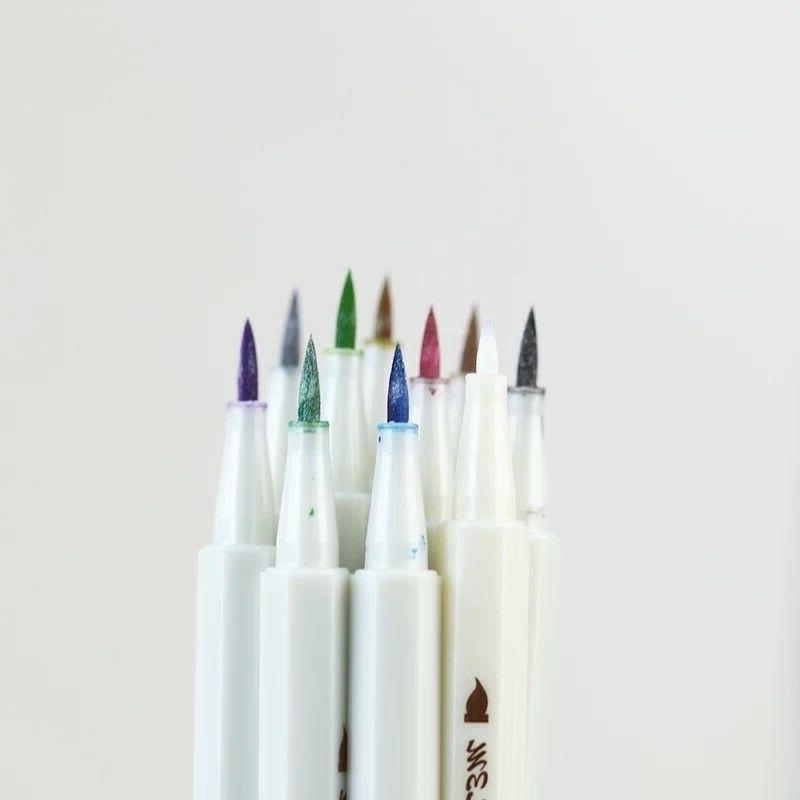 Metallic Pen Calligraphy Brush for DIY Greeting card pcs