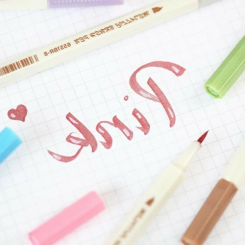 Metallic Markers Paint Calligraphy Pens DIY Greeting pcs