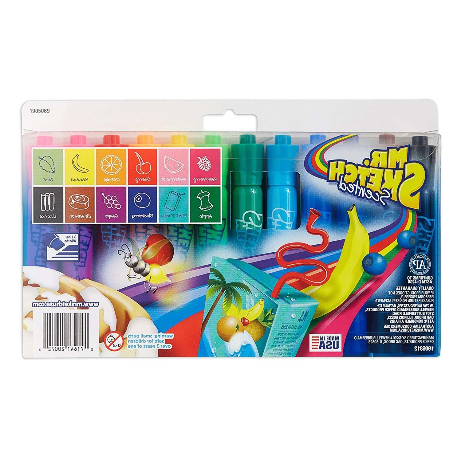 Mr. Sketch 1905069 Markers, Colors, 12-Count