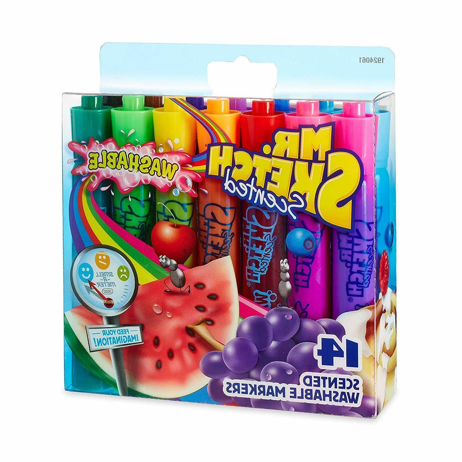 Mr. Washable Scented Markers Colors Tip Drawing 14