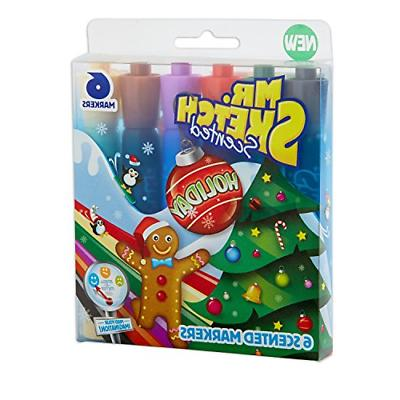 mr sketch scented markers chisel tip holiday