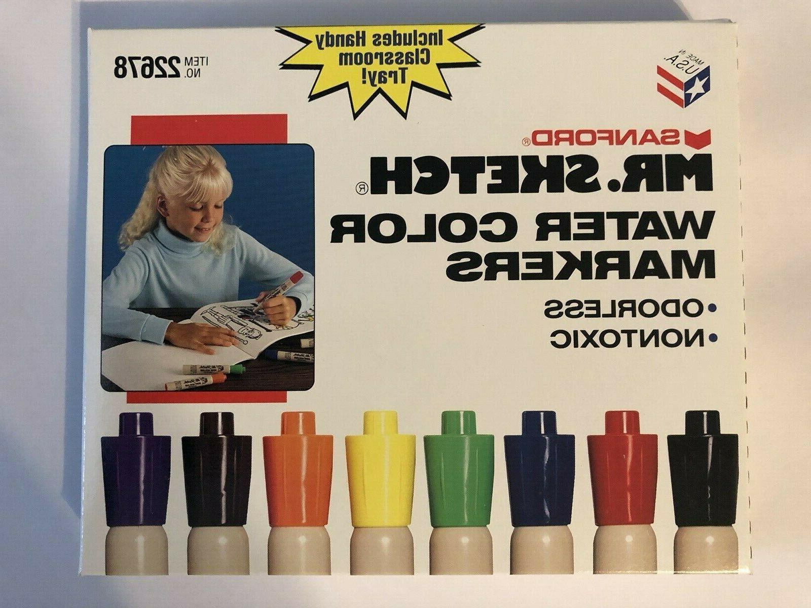 Mr. Unscented Markers Chisel Tip Colors, 8/ Pack Kid
