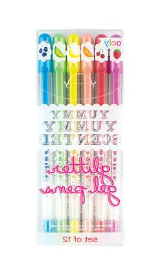 OOLY, Yummy Yummy Scented Glitter Gel Pens , Set of 12