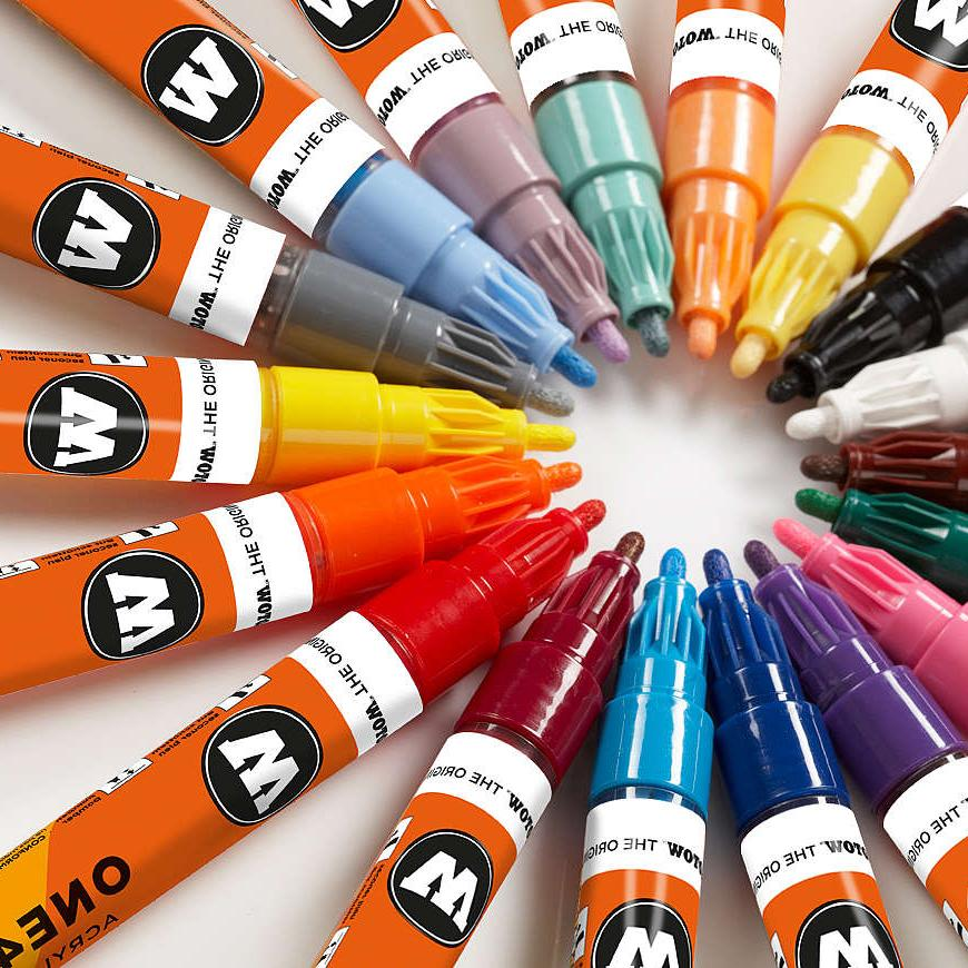 one4all 127hs 2mm single acrylic paint markers
