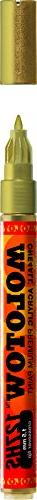 Molotow ONE4ALL Acrylic Paint Marker, 1.5mm, Metallic Gold,
