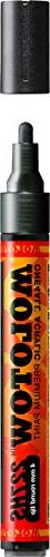 Molotow ONE4ALL Acrylic Paint Marker, 4mm, Metallic Black, 1