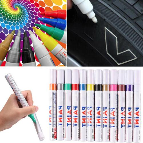 Paint Based - 12 Colors Based Pens Tyre Rubber