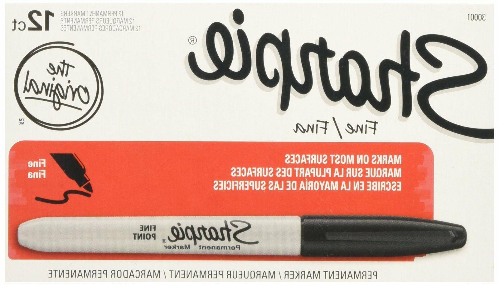 Sharpie Permanent Fine Point Marker Black 30001 12 Each