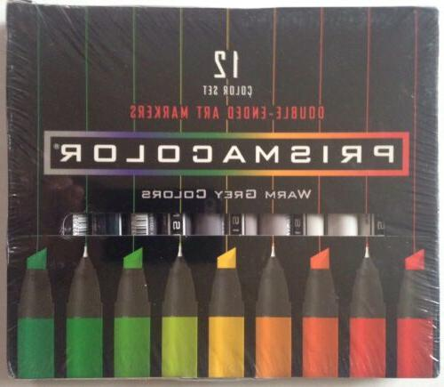 PRISMACOLOR Premier Double-Ended Markers French Warm Grey Colors 12 Ct