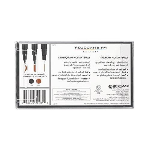 Prismacolor Markers, Assorted Black &