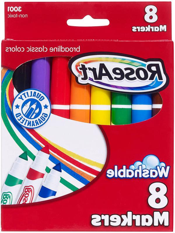Roseart Classic Washable Broadline Markers 8-Count Packaging