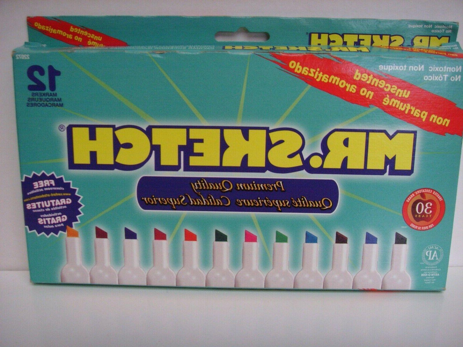 sanford mr sketch unscented water color markers