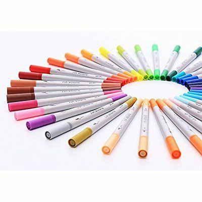 Shuttle 56 Colors Calligraphy Brushes Tip Tip