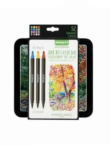 sketch and detail dual tip markers 32