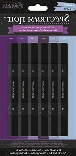 Crafter's Companion Spectrum Noir Alcohol Markers 6/Pkg Blue