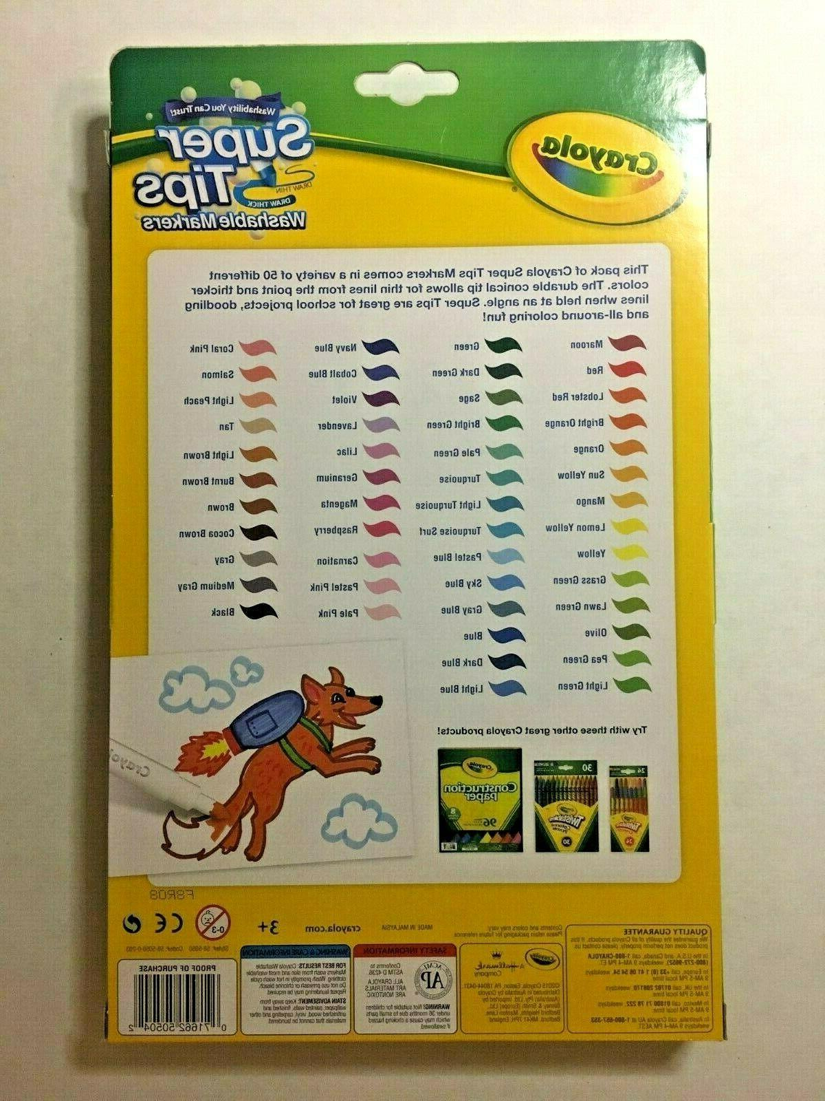 Crayola Super Washable Markers - 50 Count or Draw