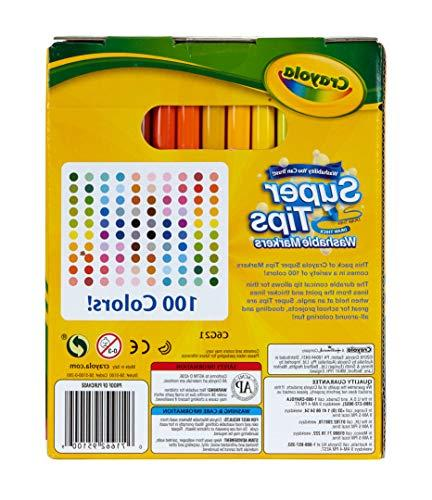 Crayola Washable Markers with Wedge Coloring, Gift