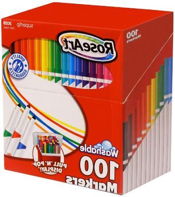 supertip assorted color washable markers 100 pack