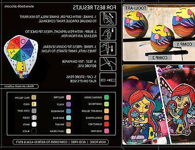 TOOLI-ART Acrylic Pens Assorted 0.7mm