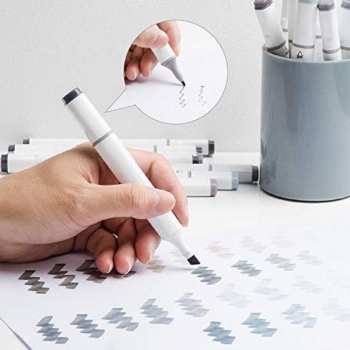30 Colors Tip Sketch Pen Marker Coloring Underlining Set with Bag