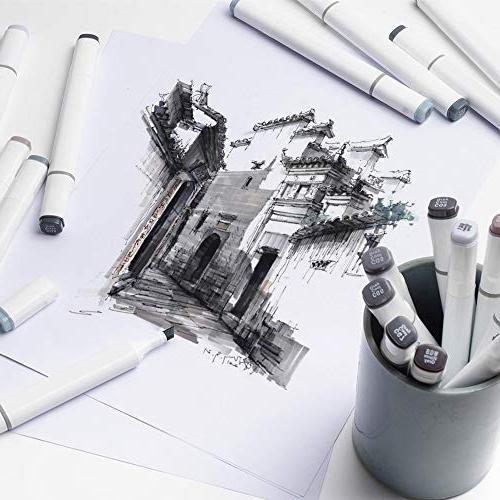 30 Colors Drawing Tip Sketch Marker Coloring Highlighting Set