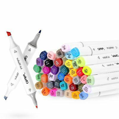 Twin Markers Ohuhu Permanent Color Art Tips