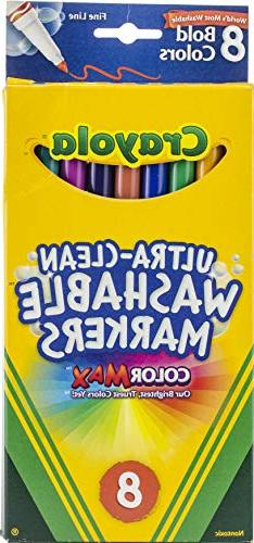 Crayola Washable Markers Bold Colors Fine Tip - 8 Count - 2