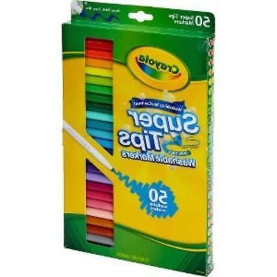 Crayola Washable Fine Line Markers Assorted - 50 /