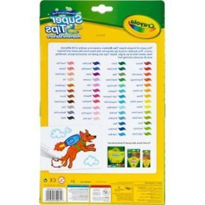 Crayola Washable Super Fine Line Markers - Assorted Ink / Pouch