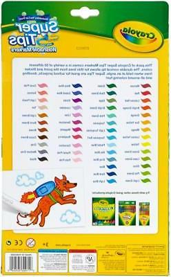 Crayola Washable Super Tips Fine Line Markers - Assorted Ink
