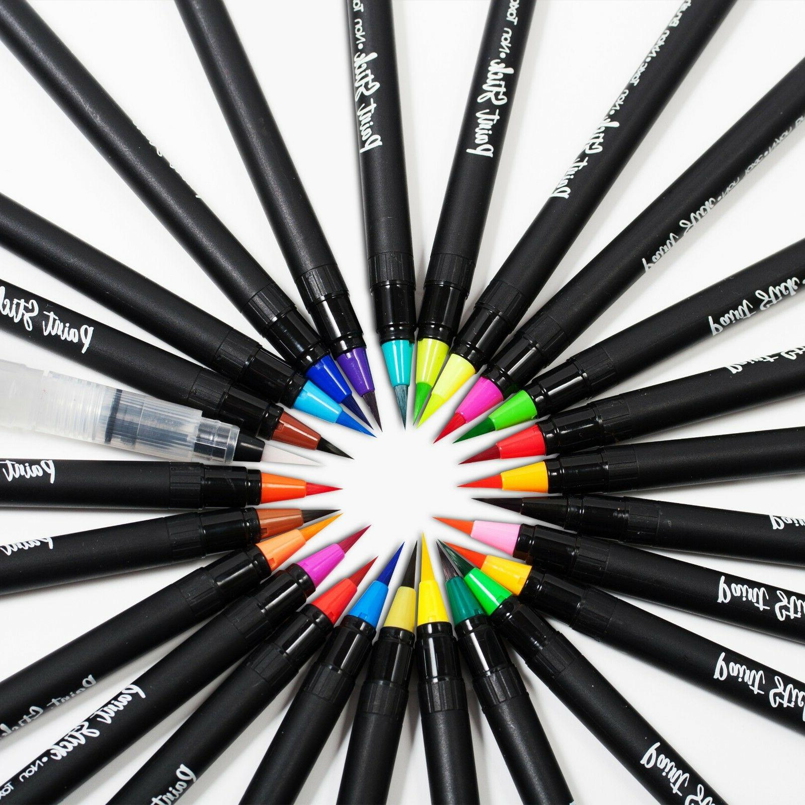 Paint Markers with Brush Set