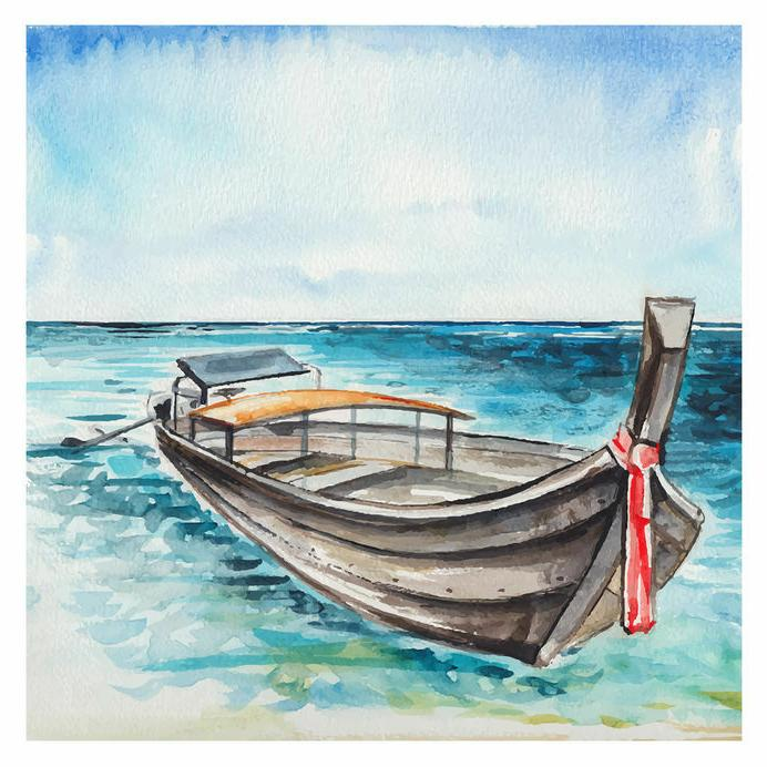 Watercolor Paint with Brush Tips Professional