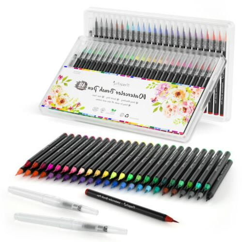 48 Flexible Brush Tips Paint Marker Pen Set