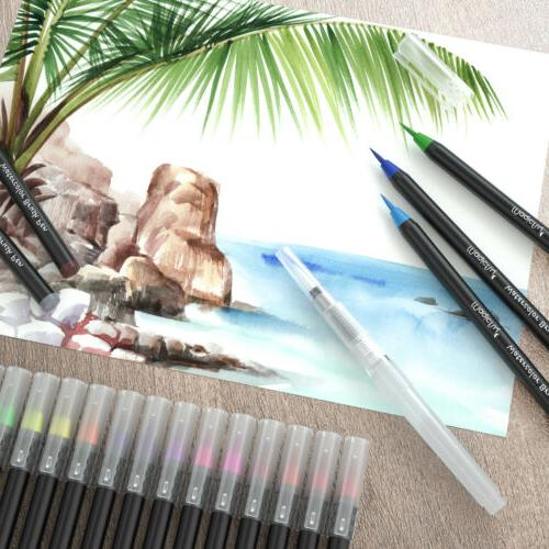 Watercolor Brush Pens 48 Paint Pen Tips