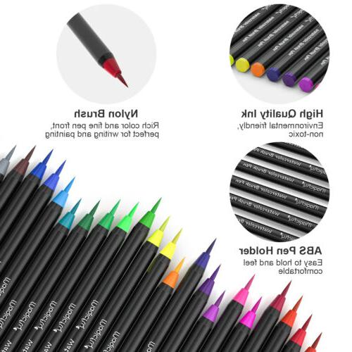 48 Watercolor Brush Flexible Brush Tips Paint Marker 1 Pen Set