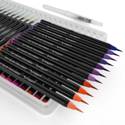 48 Flexible Brush Marker 1 Refillable Pen Set
