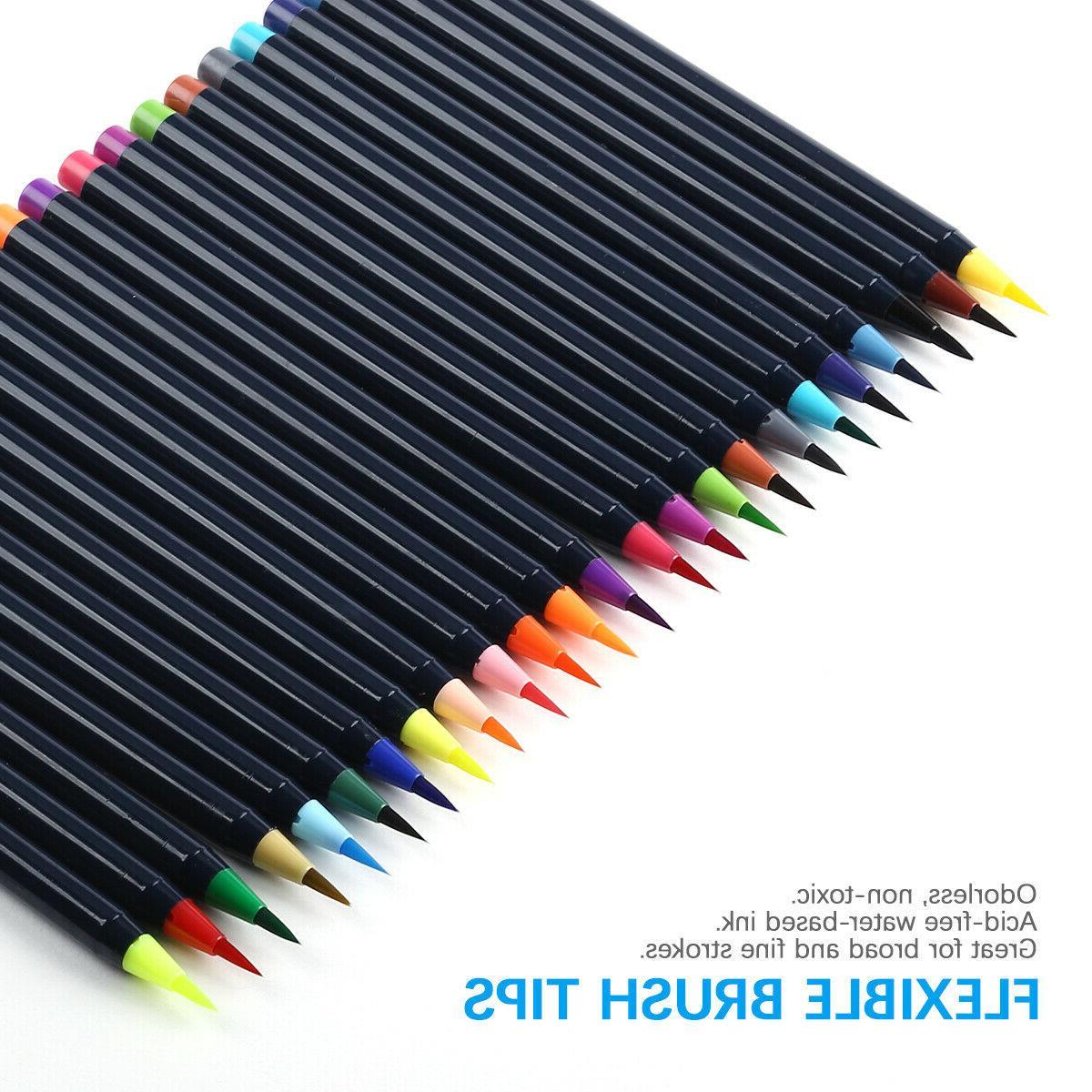 Watercolor Brush Set Coloring Calligraphy