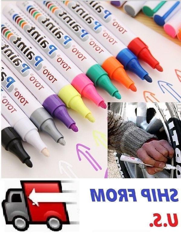 waterproof permanent paint marker pen car tyre