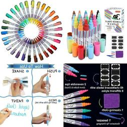 Liquid Chalk Markers,30 Colors Shuttle Art Erasable Chalk Pe
