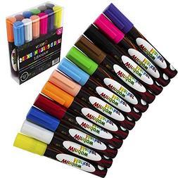 12 Pack Liquid Chalk Board Window Markers Erasable Pens Grea