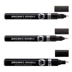 Molotow Liquid Chrome Marker Set - 1Mm, 2Mm And 4Mm *New*