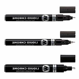 Molotow Liquid Chrome Marker Set 1mm 2mm and 4mm Art Pens Ma