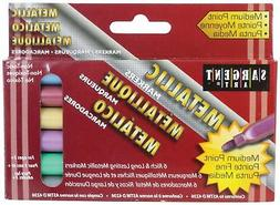 Liquid Metals Medium Point Metallic Markers, 6 Color Set